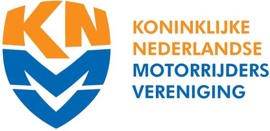 Het logo van het KNMV(koninklijke nederlandse motorrijders vereninging)