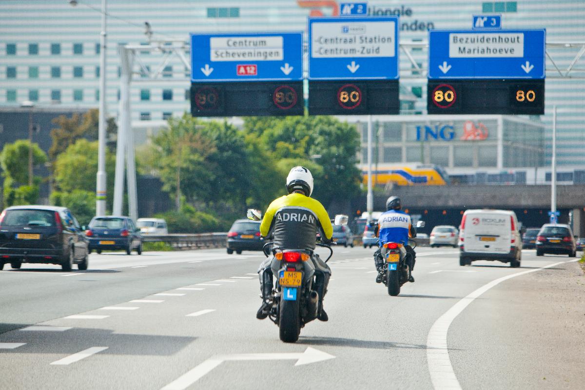 Motorrijles motorrijbewijs A halen