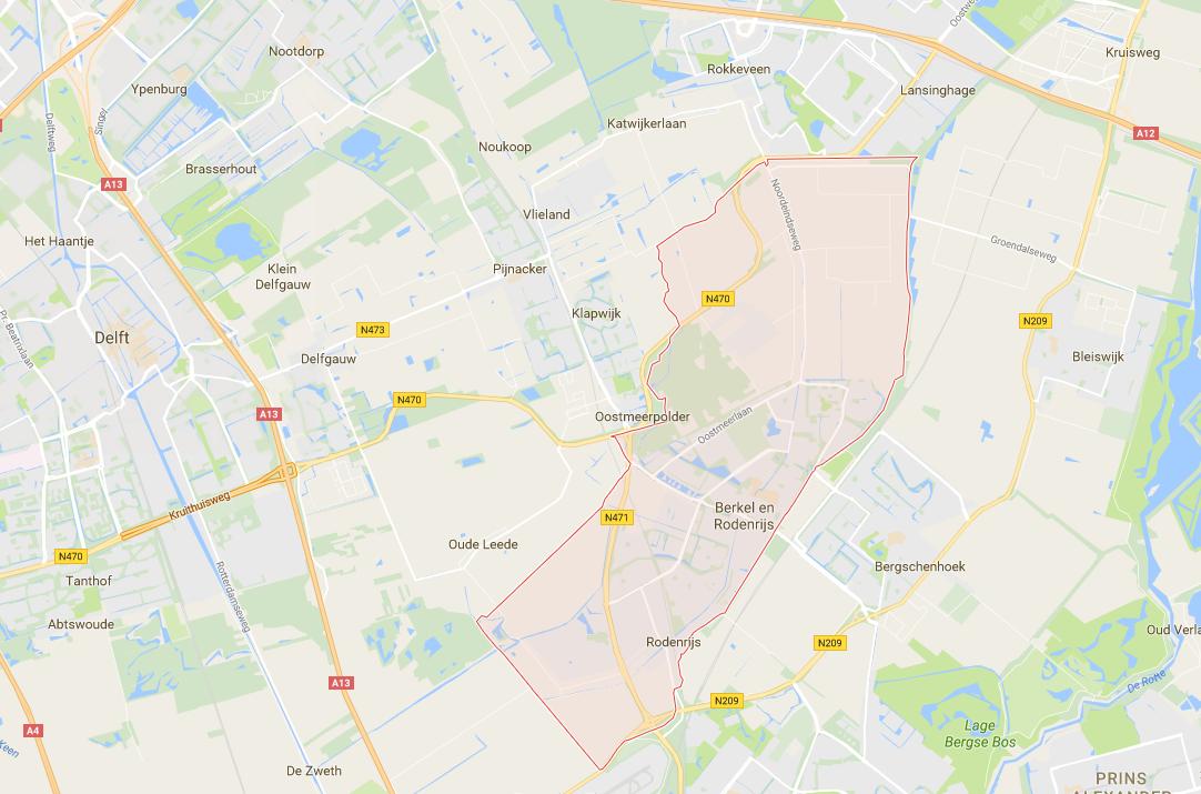 Rijles gebied van Rijschool Adrian in Berkel en Rodenrijs